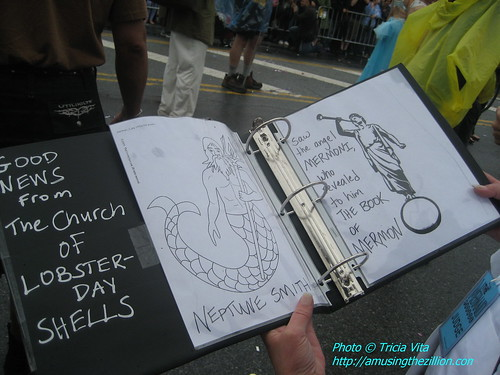 The Book of Mermon at the Mermaid Parade. Photo © Tricia Vita/me-myself-i via flickr