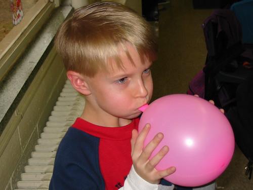 Still Blowing Up a Balloon