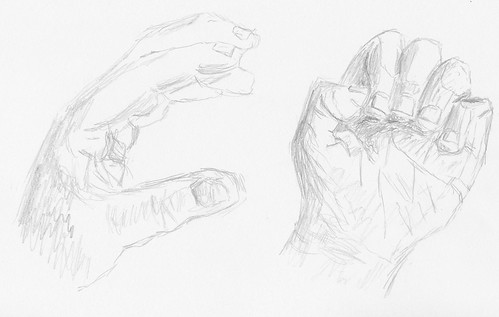Keys to Drawing, Project 1-B - Hand, 3rd attempt