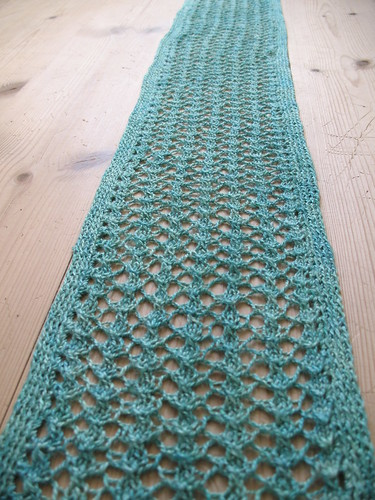 Slinky green scarf by Lisa Risager
