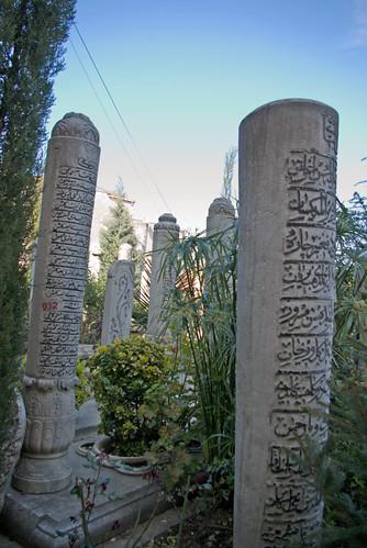 graves from Aziz Mahmud Hüdai Mosques garden,  Aziz Mahmud Hüdai Camii bahçesindeki mezar taşları, Üsküdar, İstanbul, Pentax K10d