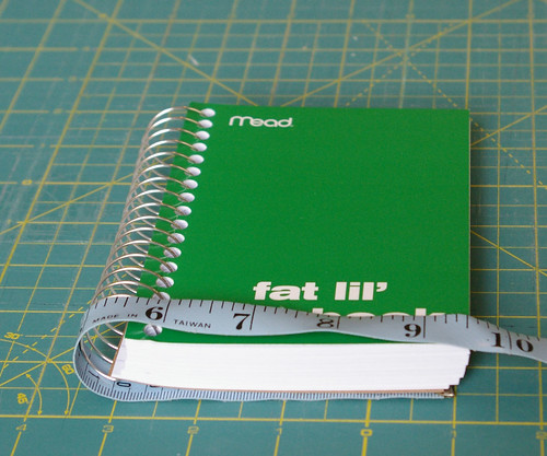Measure around your notebook by you.