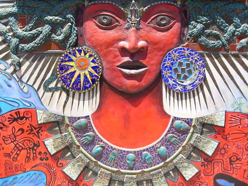 Itzpapalotl Goddess Mural