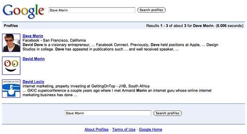 Dave Morin - Google Profile Search