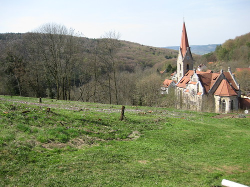 Gothic Churches, hills, pretty flowers AND brooding trees.