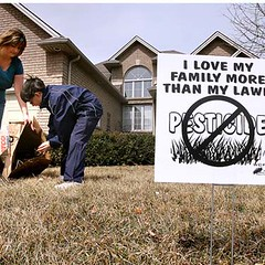 lawn sign says I Love My Family More Than My Lawn
