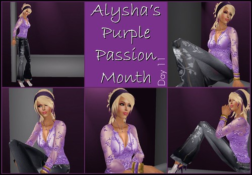ALY'S PURPLE PASSION MONTH:  DAY 11