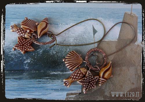 Orecchini conchiglie - Shell earrings IFMARE