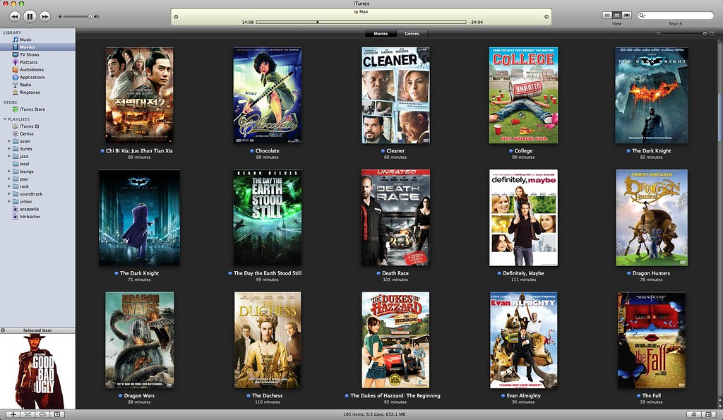 avi on itunes (movies)