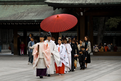 Procession in a shrine