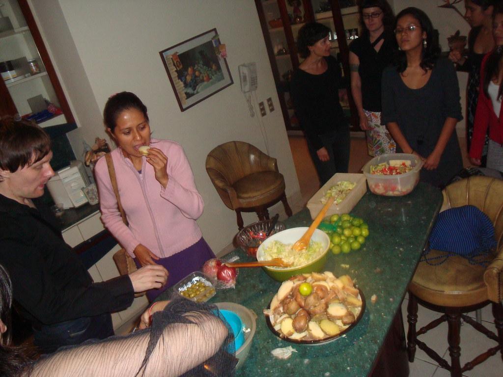 Cocinando en casa de Paola Torres