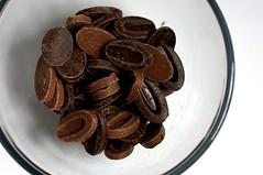 milk and dark chocolate feves
