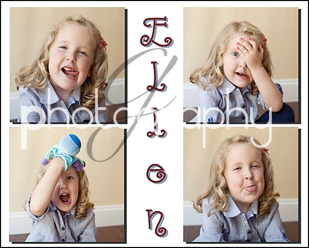 Ellen's silly faces border