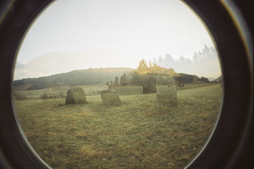 double exposed standing stones