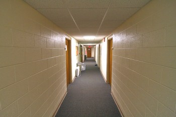 How a hallway looks through an ultra-wide lens