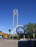 Cedar Point - Power Tower and Corkscrew