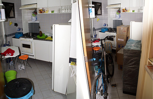 Antes e durante: cozinha