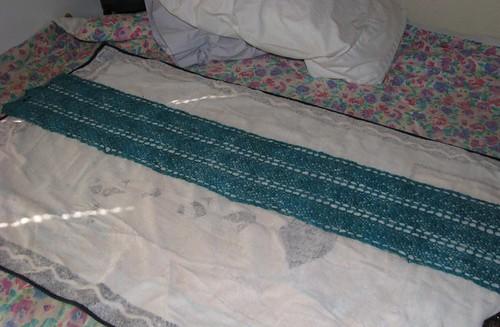 Turquoise Scarf Blocking 4