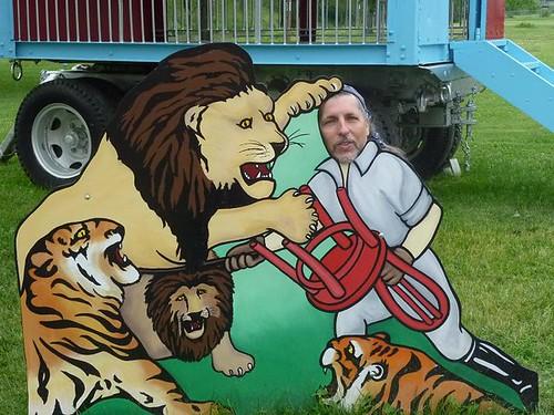 WI, Baraboo - Circus World Museum 131 - Liontamer Dave