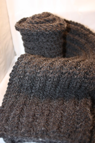brioche stitch scarf done