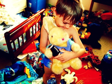 A Boy and His Furry Toy