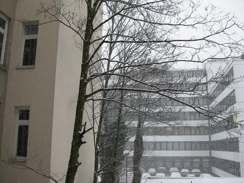 Hamburg mit Schnee