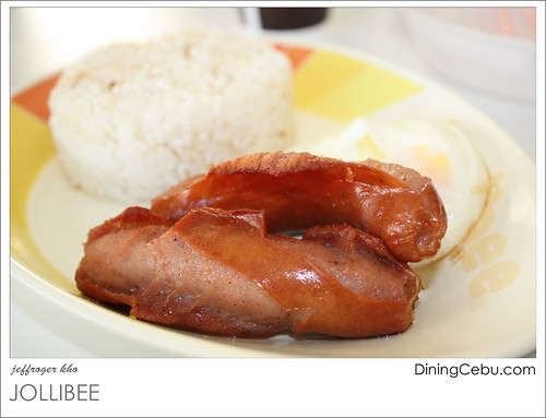 Jollibee Breakfast Meals - Longganisa