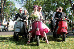 Even the parents got into the scooter action!