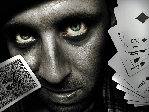 Man with cards