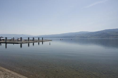 Calm waters of Lake Okanagan along Westbank