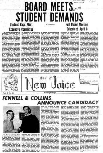 The New Voice student newspaper for March 11, 1969.