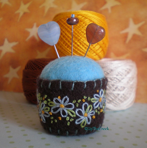 Bottle Cap Pincushion #189 by Pine and Wine.