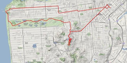 TwinPeaks ride map