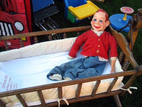 Howdy Doody in crib