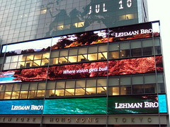 nyc06h82 Lehman Brothers on Broadway, NYC NY 2006