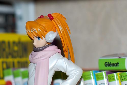 Asuka de perfil