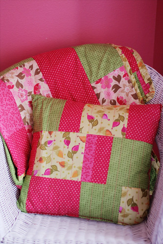 Ally's new quilt and pillow