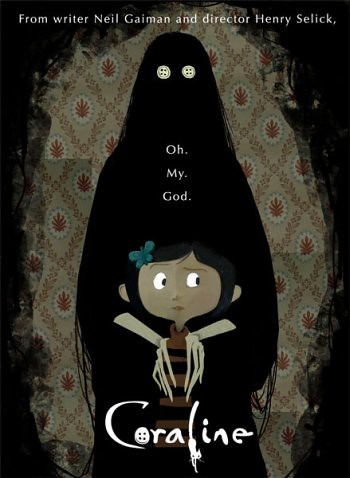 Coraline poster - see the button eyes?