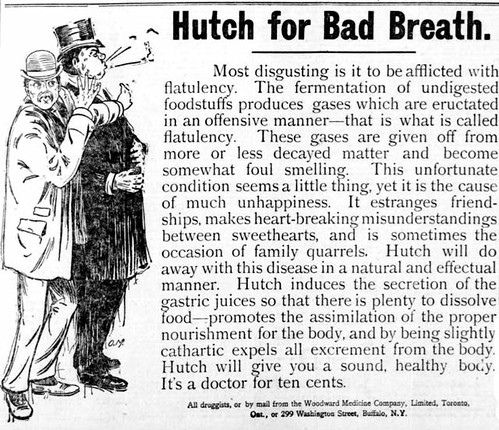 Vintage Ad #787: Hutch for Bad Breath by jbcurio.