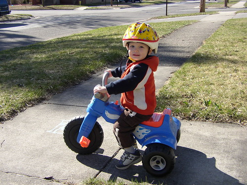 spencer on his trike