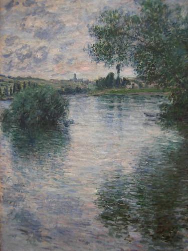 Monet...La Seine a Vetheuil (1879) แม่น้ำเซนจากเมือง Vetheuil เป็นรูปนึงจากคอลเลคช่ันนี้