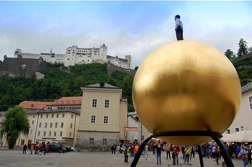 Golden Ball in Salzburg, Austria by Tobi_2008.