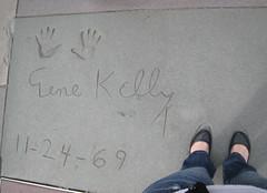 Gene Kelly's footprints