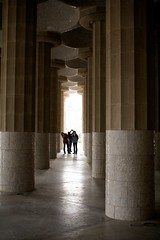 Columns in Park Güell