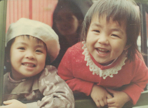 Me and my sis when I was about 3 or 4. Of course, I am the more stylish of the two and sporting the beret.