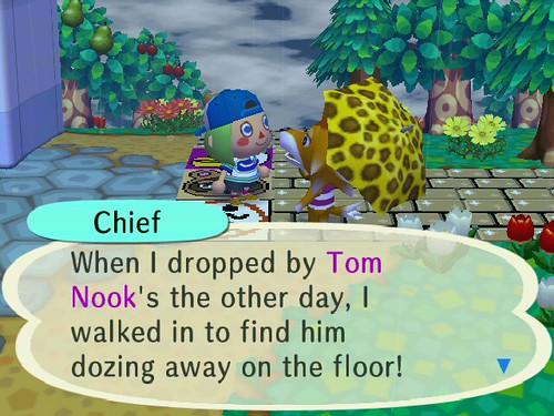 Nook, sleeping on the job??  Who does he think he is, Blathers?  LOL