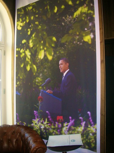 Obama tribute at the Nobel Peace Center
