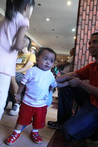 Me and my son Elian during last Aprils Makabayan! Coalition launching at the UP Bahay ng Alumni.