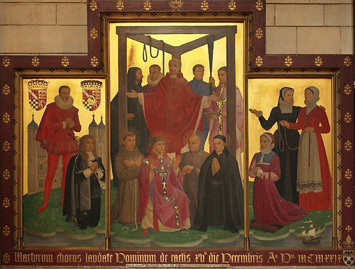Martyrs of England & Wales under the Tyburn Tree. Courtesy Br Lawrence Lew, OP (Click image)