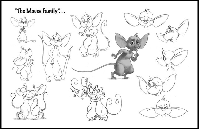 Mouse Character Design Illustration